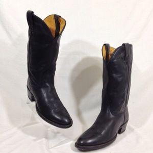Nocona Western Boots Black Sz 8 AAA